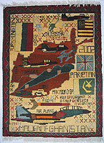 4 Scattered Flags Tora Bora War Rug