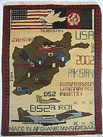 Classic PSYOP War Rug - Tora Bora and Flag Banner with White Dove