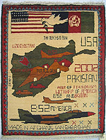 Green Map Tora Bora Map Rug with Nice Flag Banner with White Dove