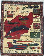 Scattered Flag War Rug