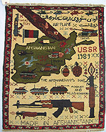 Soviet Exodus Yellow Map War Rug