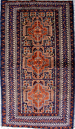 Baluchi Medallion Rug with Grenades