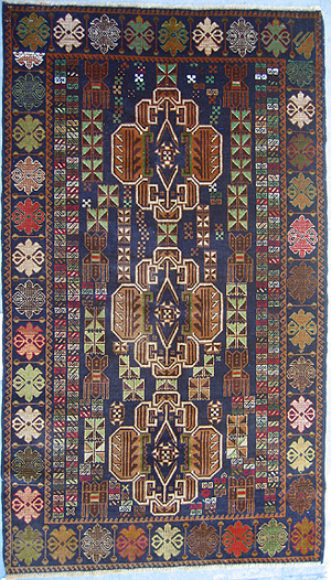 color flowers  war rug