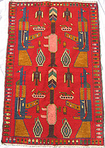 Symmetrical RPG Red War Rug