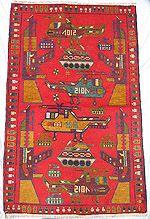 4 Helicopter 2 Tank War Rug