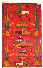 Cool Red War Rug