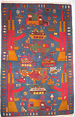 Blue War Rug with Multi Launch Rock System