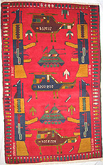 Spare Field Red War Rug
