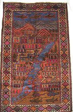 Blue River War Rug