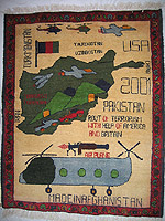 Big Light Blue Helicopter Tora Bora Map Rug (Exhibition history #21)