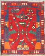 Small Red War Rug #624