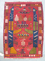 Small Red War Rug #634