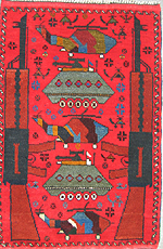 small red war rug