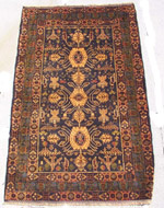Old Herati War Rug with Candy Cane Helicopters