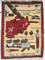 Soviet Exodus rug saying Made in Afghanistan, so woven after 2002