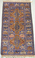 Three Beluchi Medallion War Rug