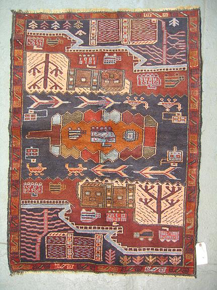 Hand woven political portrait rug